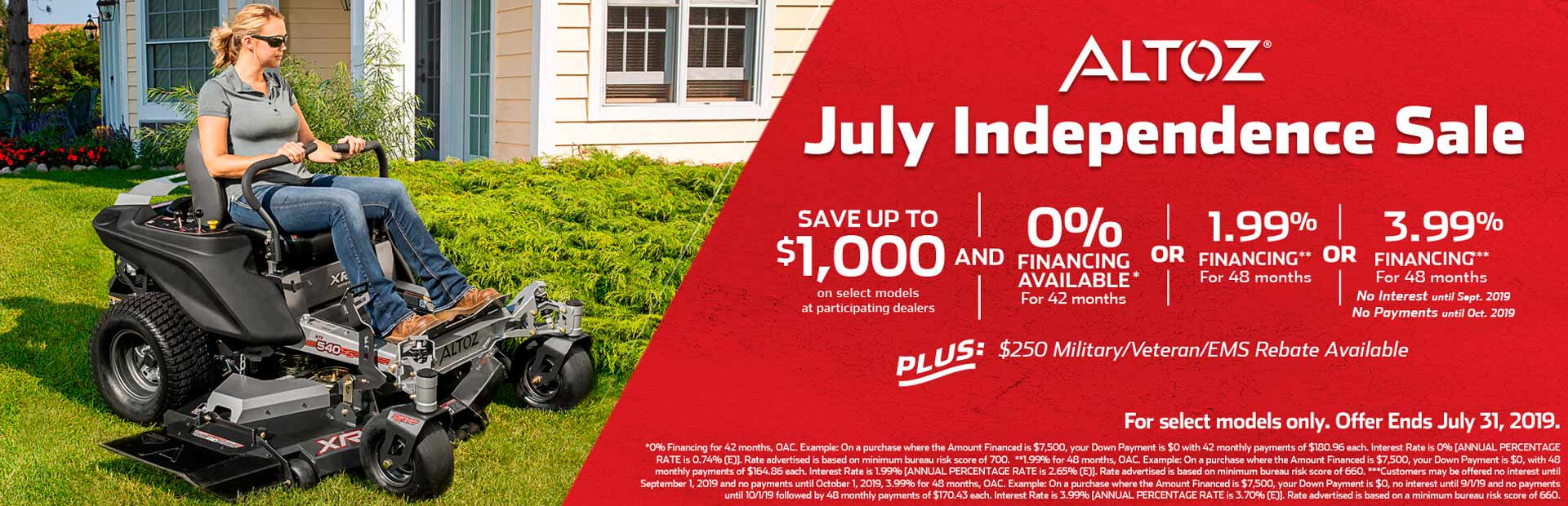 Altoz: July Independence Sale