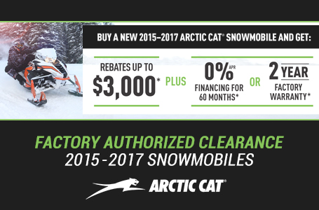 Factory Authorized Clearance 2015-2018 Snowmobiles