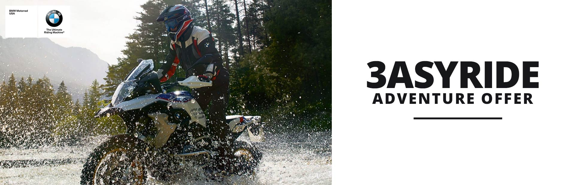 BMW: 3asyRide Adventure Offer