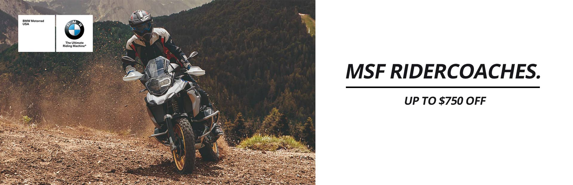 BMW:  MSF RiderCoaches Up To $750 Off