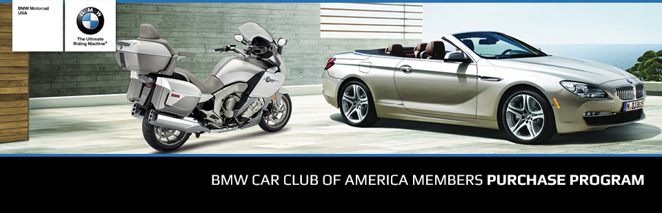 BMW: BMW Car Club of America Members Purchase Program
