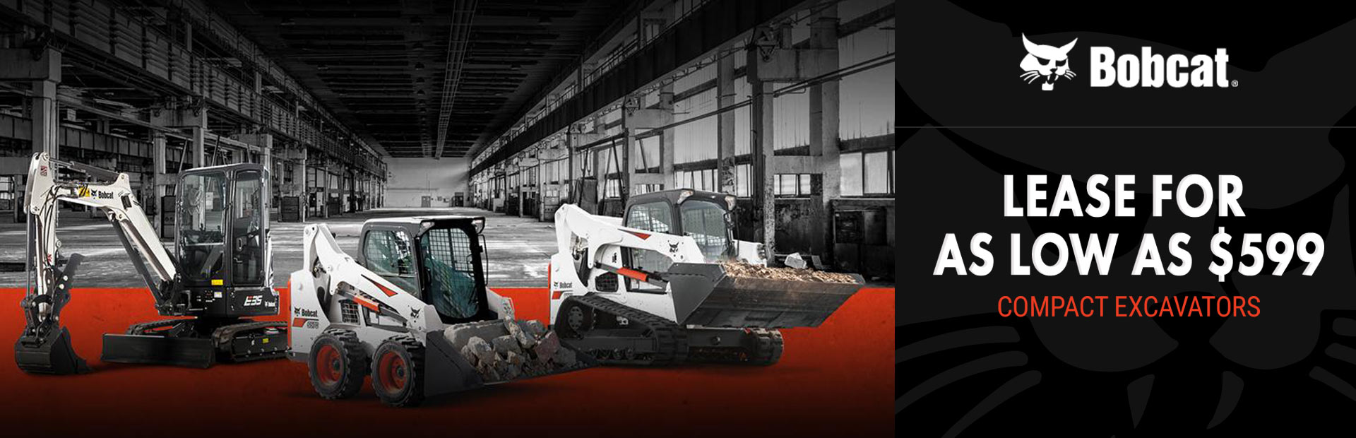 Bobcat: Lease Bobcat Compact Excavators For As Low As $599