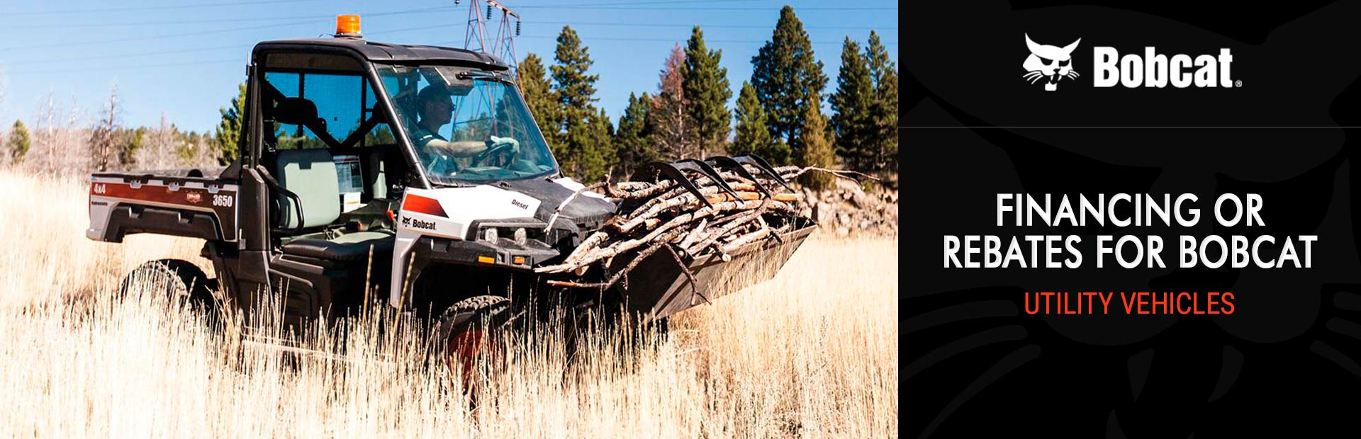Bobcat: Financing or Rebates for Bobcat Utility Vehicles