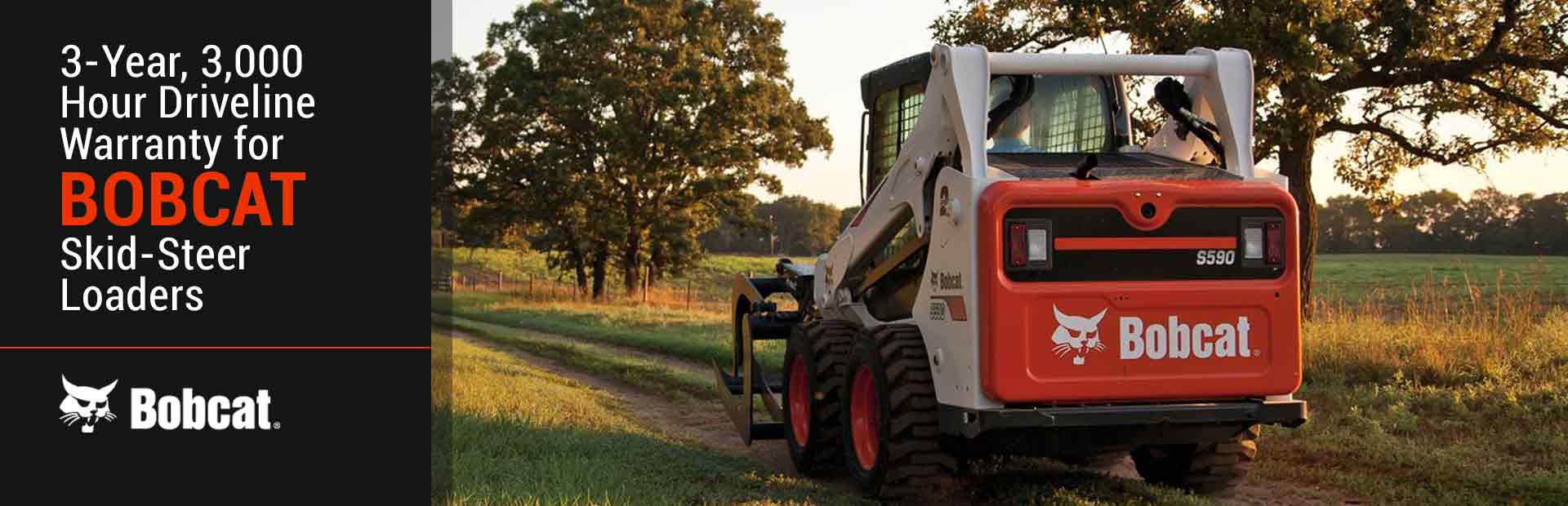 Bobcat: 3Yr 3KHr Driveline Warranty for Skid-Steer Loaders