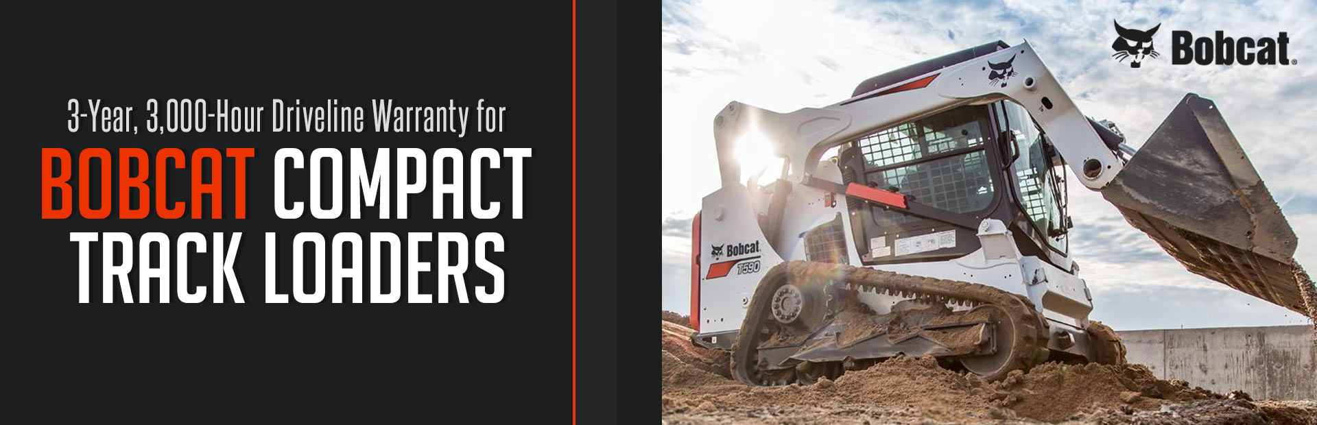 Bobcat: 3Yr 3k-Hr Driveline Warranty for Track Loaders