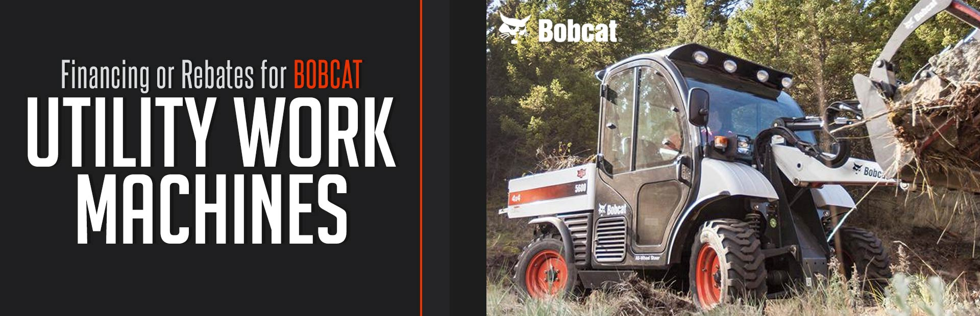 Bobcat: Financing or Rebates for Utility Work Machines