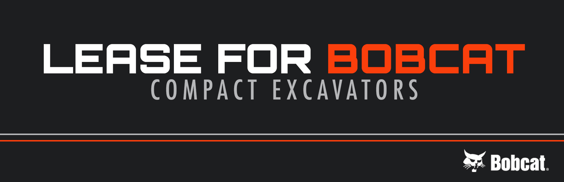 Bobcat: Lease For Bobcat Compact Excavators
