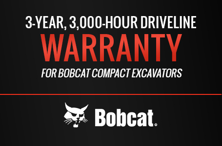 3Yr 3KHr Driveline Warranty for Compact Excavators
