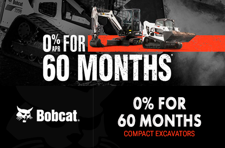 0% for 60 Months for Compact Excavators