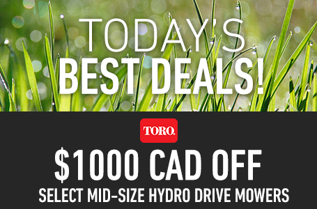 $1000 CAD Off Select Mid-Size Hydro Drive Mowers