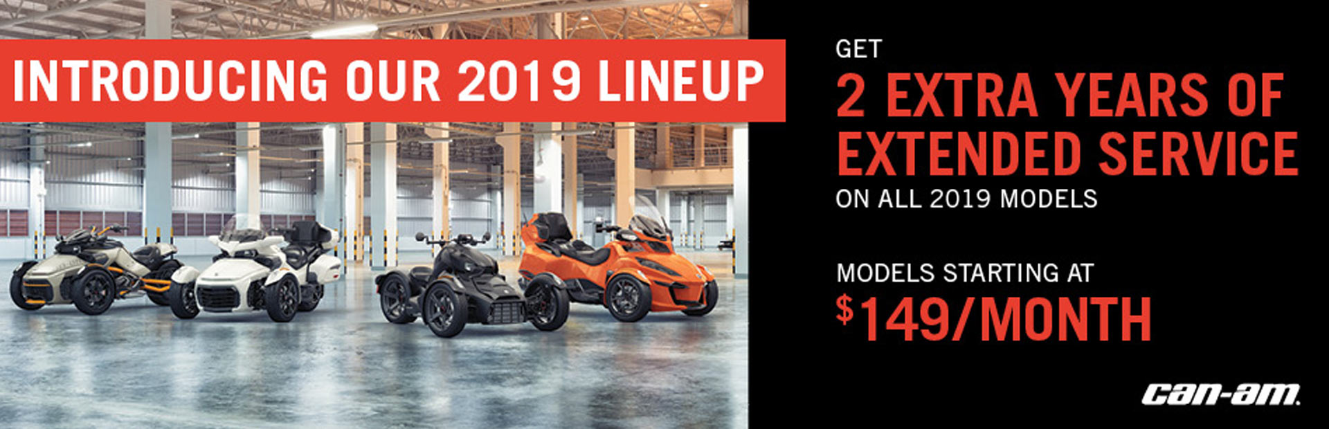Can-Am: Pre-Season Sales Event - Spyder