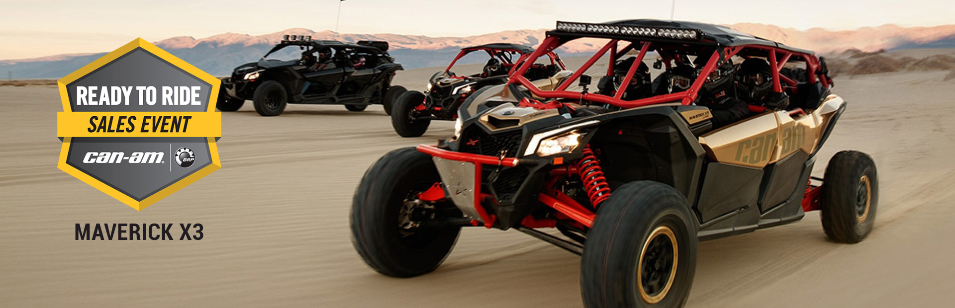 Can-Am: Ready to Ride Sales Event - MAVERICK X3