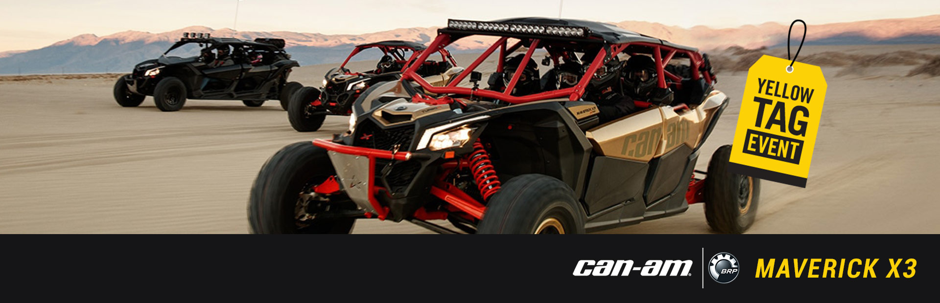 Can-Am: Yellow Tag Event - MAVERICK X3
