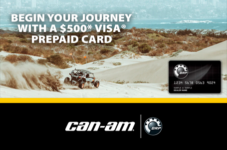 BEGIN YOUR JOURNEY WITH A $500* Visa® Prepaid card