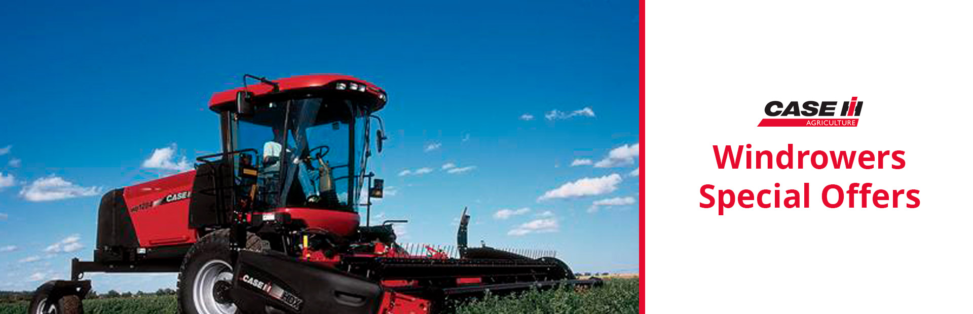 Case IH: Windrowers Special Offers