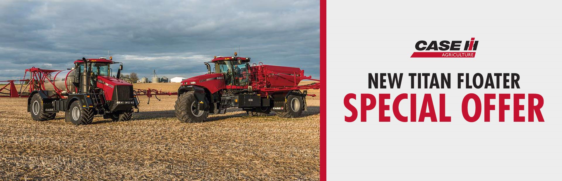 Case IH: New Titan Floater Offer