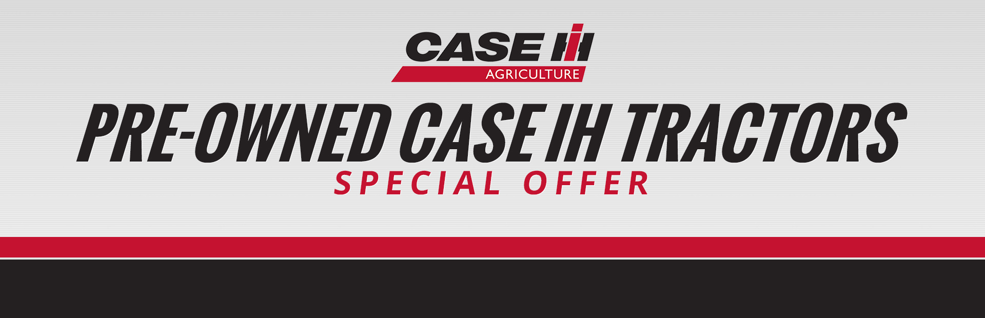 Case IH: Pre-Owned Case IH Tractors Special Offer