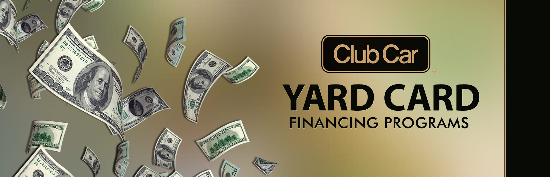 Club Car: Club Car – Yard Card Financing Programs