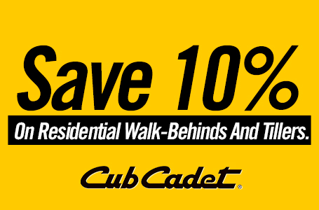 Save 10% On Residential Walk-Behinds And Tillers
