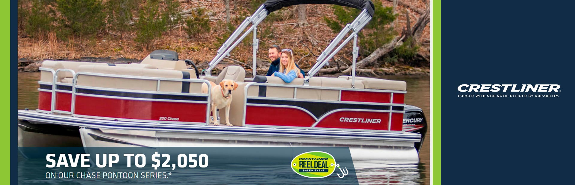 Crestliner: Save Big on Brand New Chase Pontoons