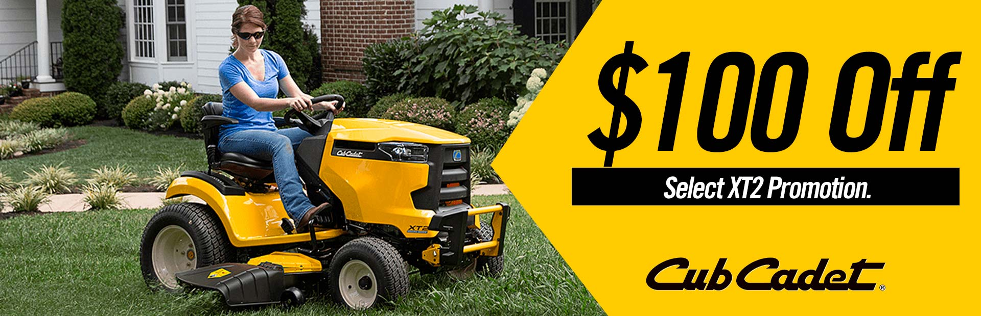 Cub Cadet: $100 Off Select XT2 Promotion