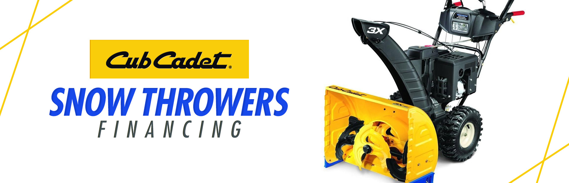 Cub Cadet: Snow Throwers Financing