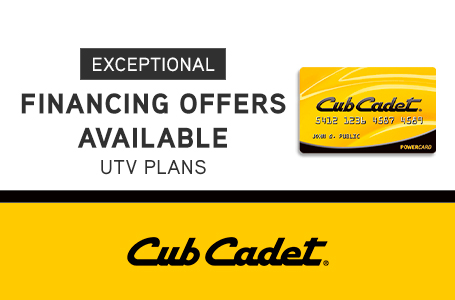 EXCEPTIONAL FINANCING OFFERS AVAILABLE UTV PLANS