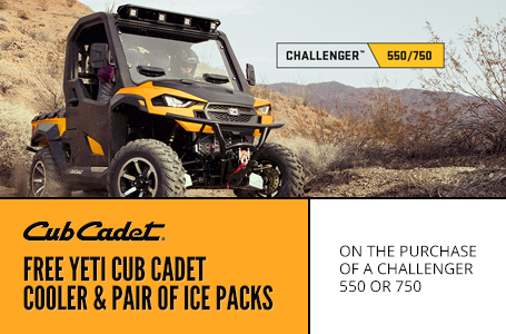 FREE YETI CUB CADET COOLER AND PAIR OF ICE PACKS