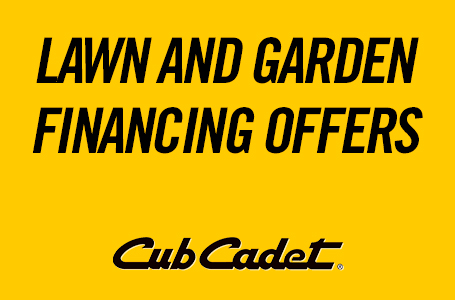 Lawn and Garden Financing Offers