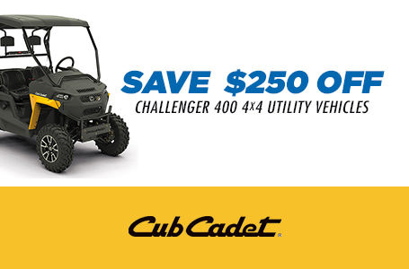 SAVE $250 OFF CHALLENGER 400 4X4 UTILITY VEHICLES