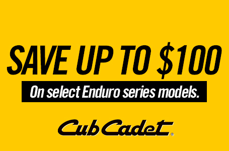 SAVE UP TO $100 ON SELECT ENDURO SERIES MODELS