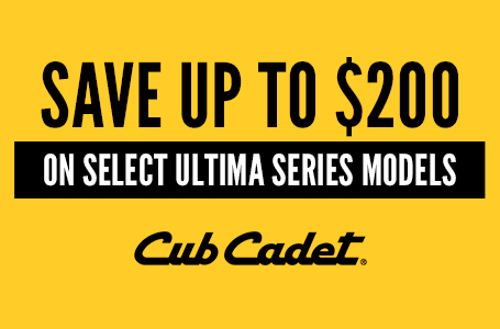 SAVE UP TO $200 ON SELECT ULTIMA SERIES MODELS