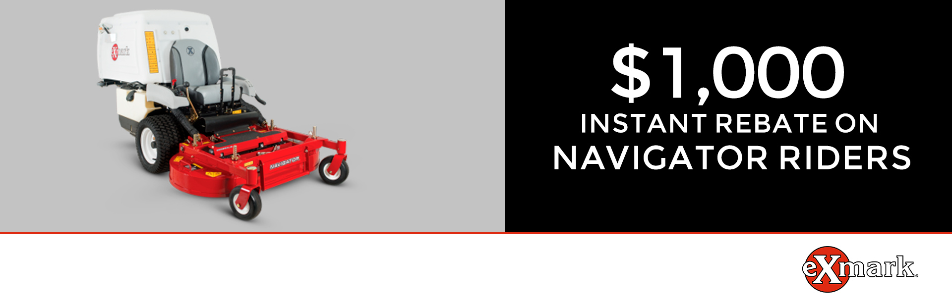 Exmark: $1000 Instant Rebate on Navigator Riders