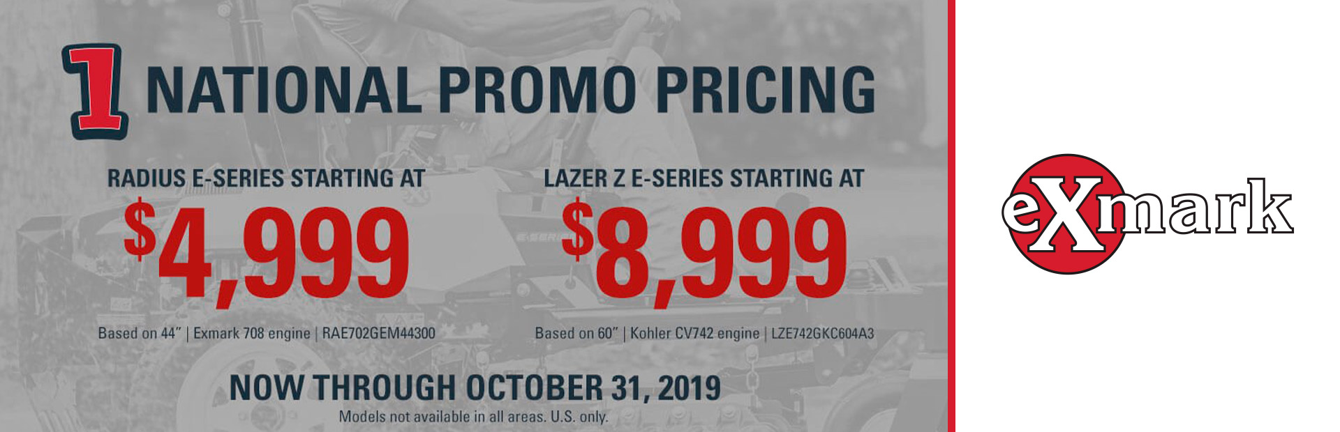 Exmark: National Promo Pricing
