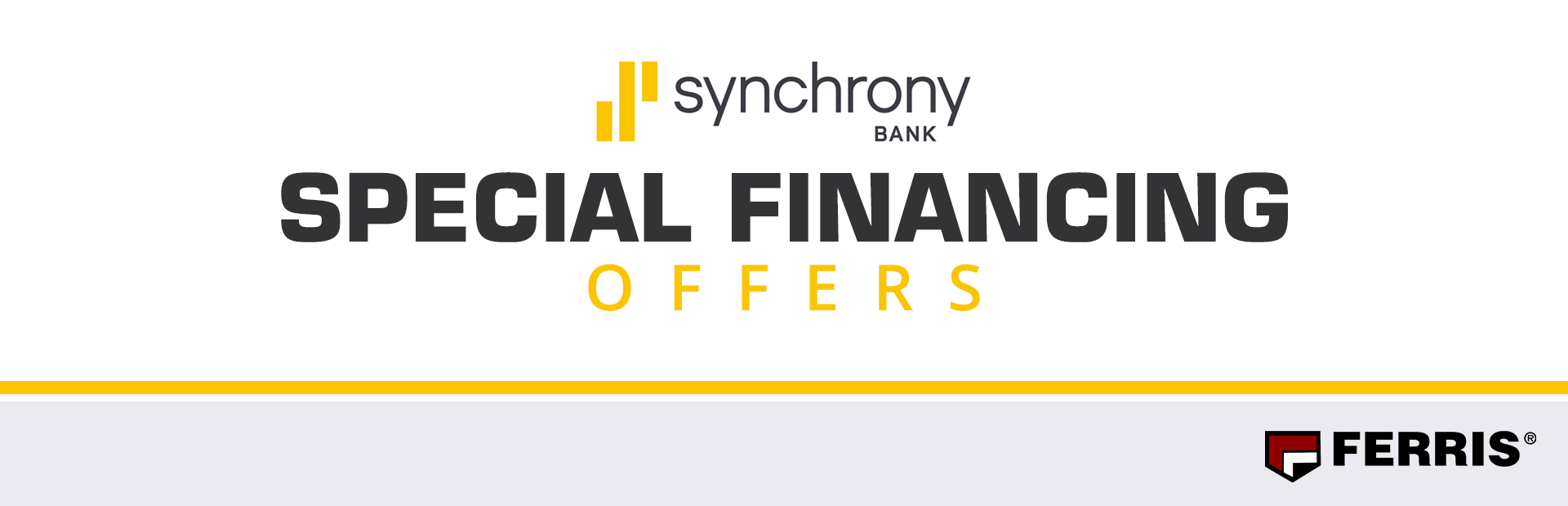 Ferris: Synchrony Bank Special Financing Offers