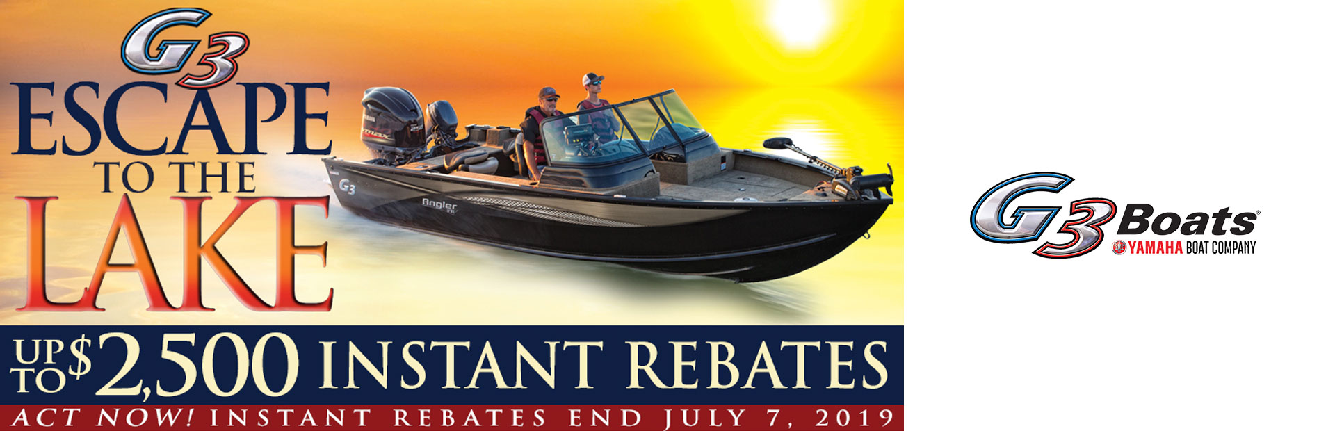 G3: Escape to the Lake Rebates Angler V Series