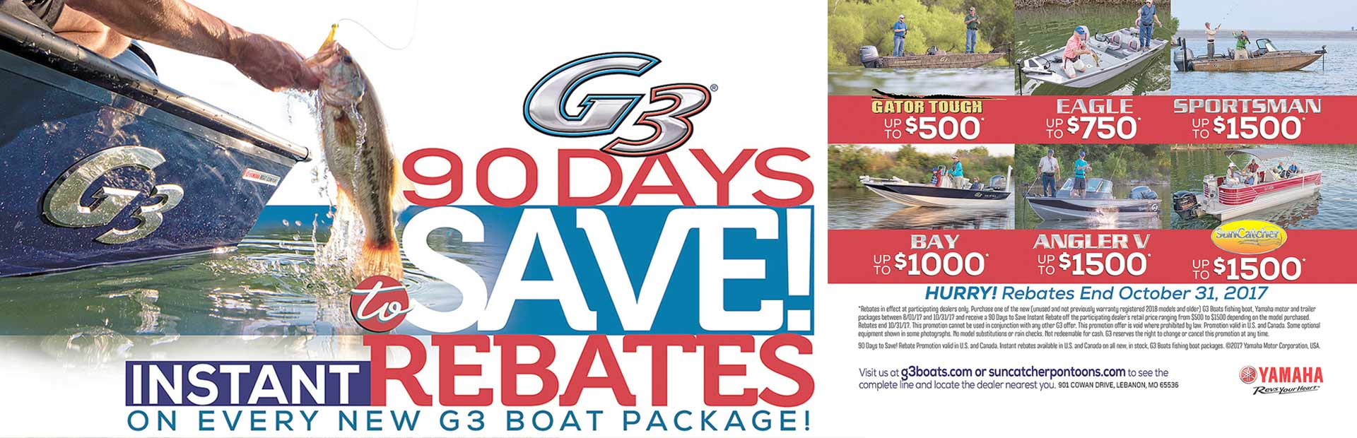 G3: G3® 90 Days to Save! Instant Rebates
