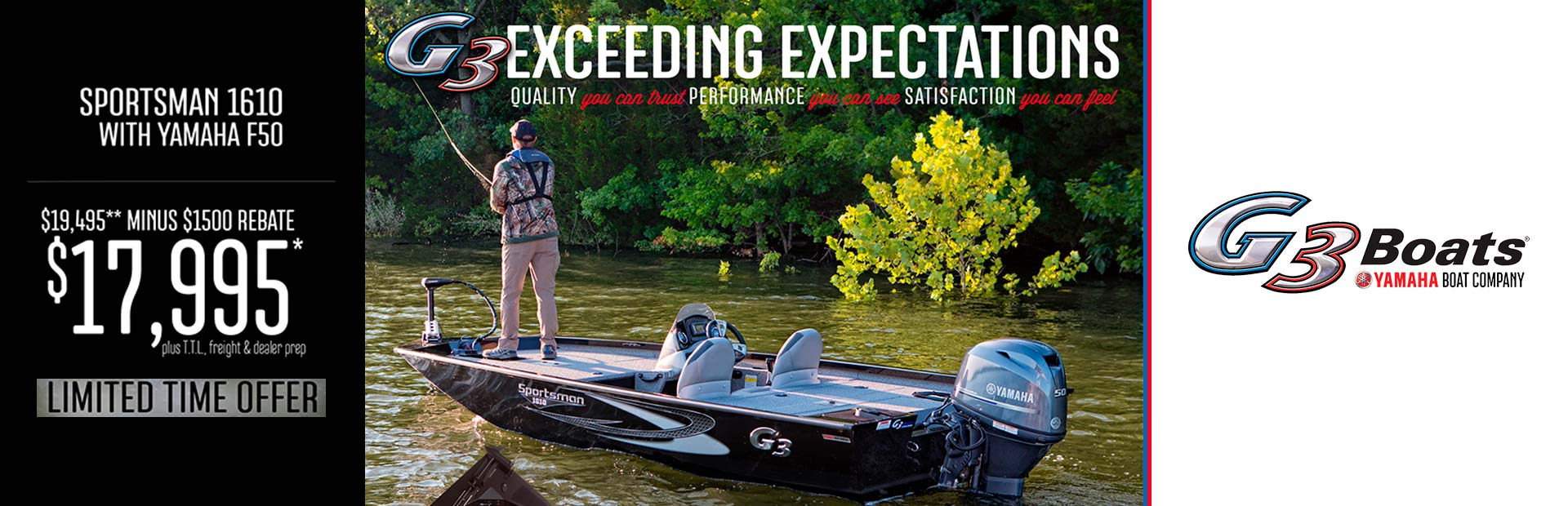 G3: G3 EXCEEDING EXPECTATIONS - SPORTSMAN 1610