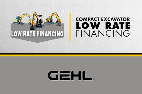Compact Exacavator - Low Rate Financing