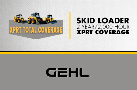 Skid Loader - 2 Year / 2,000 Hour XPRT Coverage