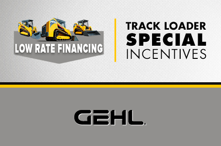 Track Loader - Special Incentives