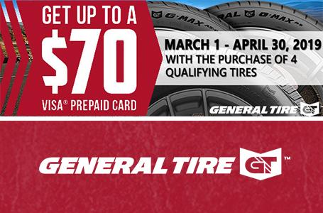 K's Tire Sales & Service, Llc current promotion for General