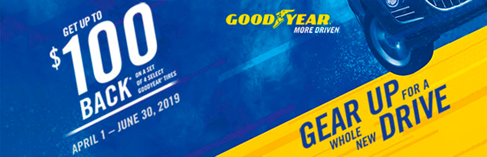 Goodyear: Get Up To $100 Back On Select Goodyear Tires