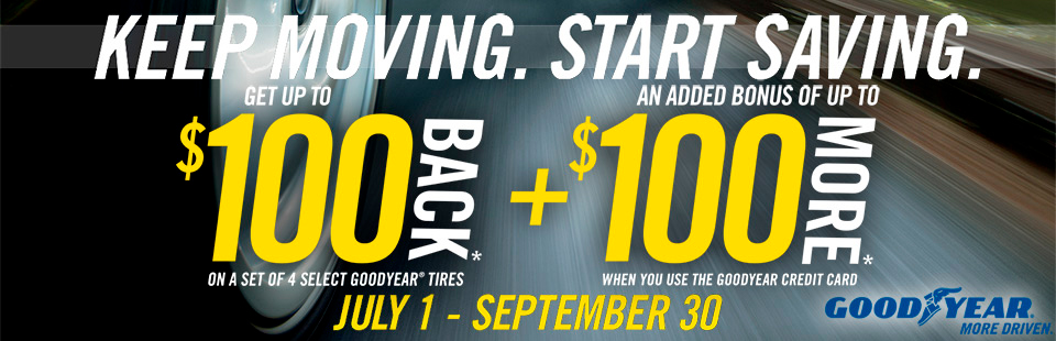 Goodyear: Get Up To $200 Back
