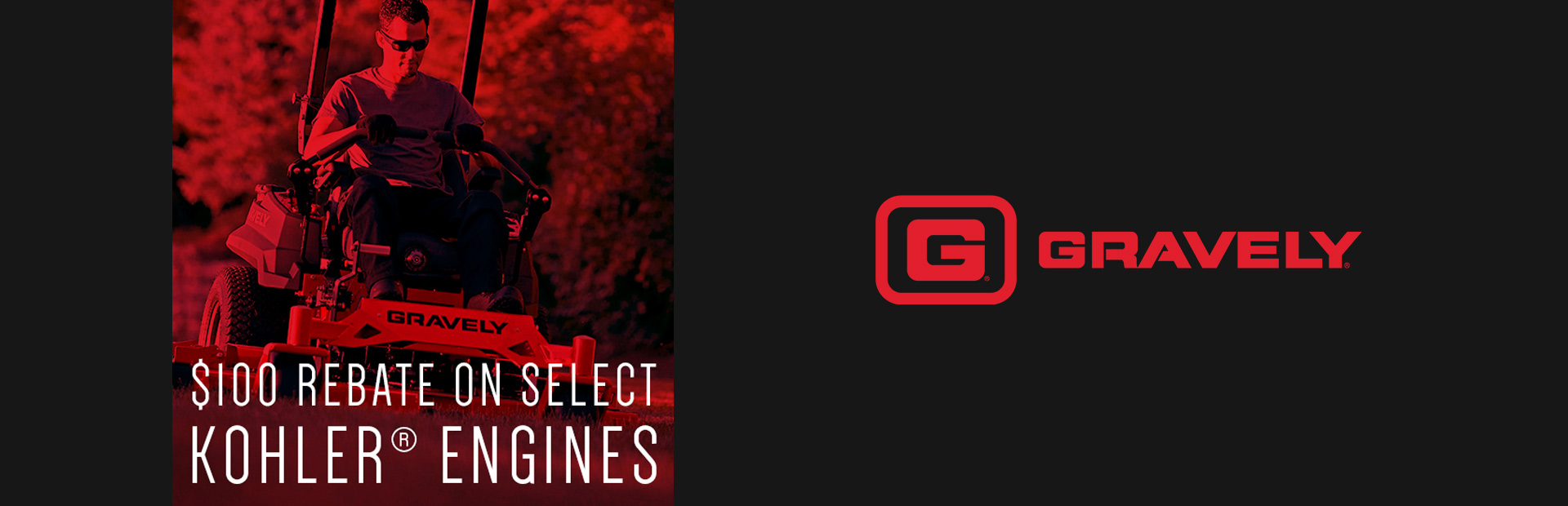 Gravely - $100 Rebate On Select Kohler® Engines Lube Suppliers Store ...