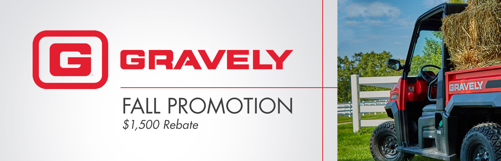 Gravely: Gravely Fall Promotion - $1500 Rebate