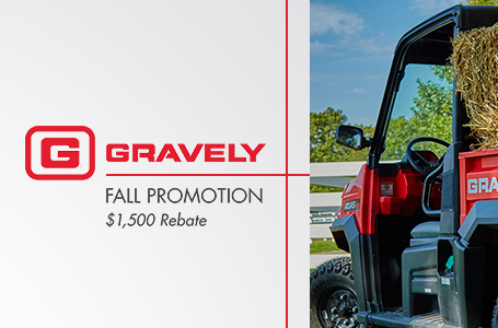 Gravely Fall Promotion - $1500 Rebate