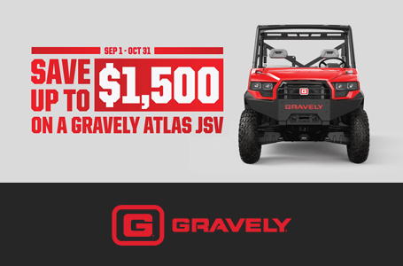 Save Up To $1,500 On A Gravely Atlas JSV