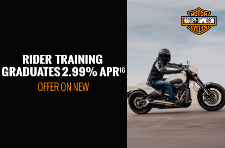 RIDER TRAINING GRADUATES 2.99% APR OFFER ON NEW