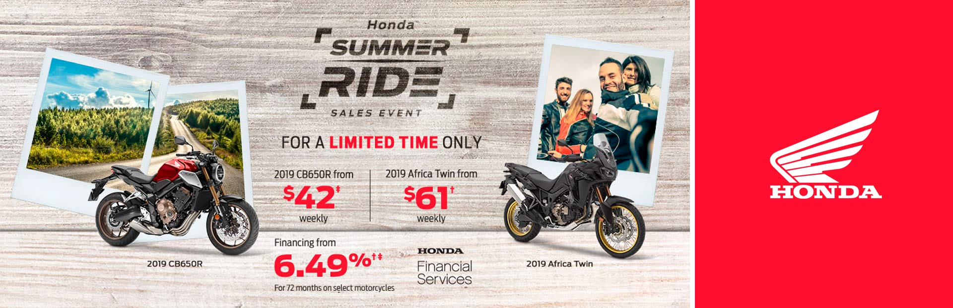 Honda: Summer Ride Sales Event - motorcycles